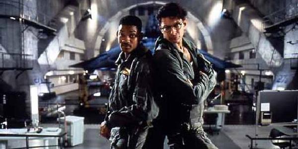 Will Smith et Jeff Goldblum dans Independance Day de Roland Emmerich