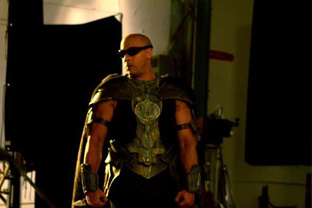 Vin Diesel sur le plateau de Riddicik de David Thowy