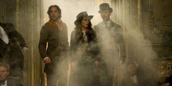 Robert Downey Jr, Noomi Rapace et Jude Law dans Sherlock Holmes : Jeu d'Ombres de Guy ritchie