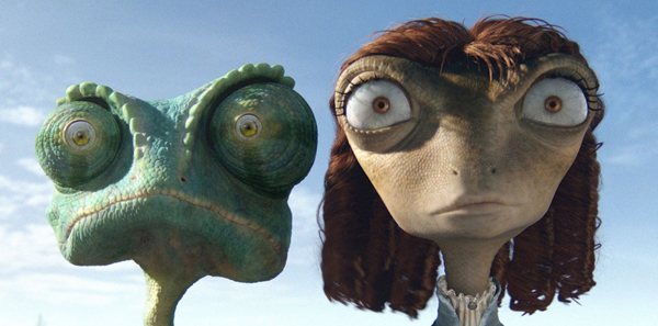 Johnny Depp et Isla Fisher dans Rango de Gore Verbinski