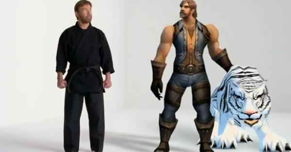 Chuck Norris dans la pub World of Warcraft