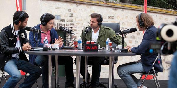 Clovis Cornillac, Douglas Attal, Pascal Demolon,Manu Payet dans Radiostars de Romain Lévy
