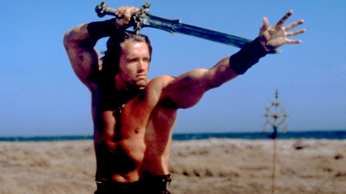 Arnold Schwarzenegger dans Conan le Barbare de John Milius